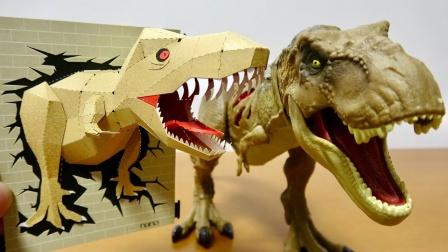 恐龙益智早教游戏:好期待!教你如何手工制作纸片恐龙!