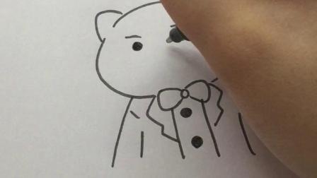 画一只酷酷的小猪#简笔画