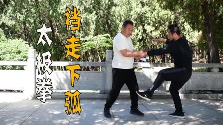 太极拳裆走下弧,庞师父亲身示范
