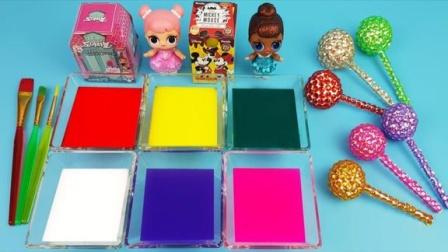 魔法染料盘创意新玩法,早教启蒙认知萌宝给棒棒糖着色识颜色啦!