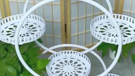 家里花盆太多了,试试这个可移动花盆,收纳整洁,干净利落