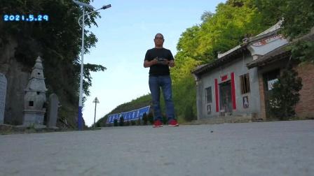 航拍丹凤县大峪沟天桥山。