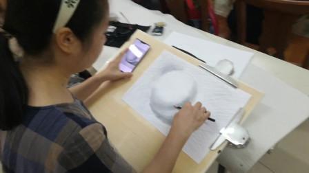 儋州市文化馆公益国画班第三次素描课学习剪影