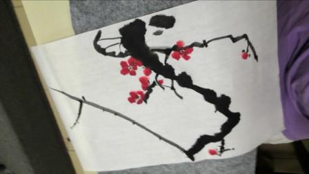 儋州市文化馆公益成人国画班第四次学习剪影