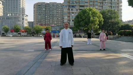 语溪公园,拳友晨练