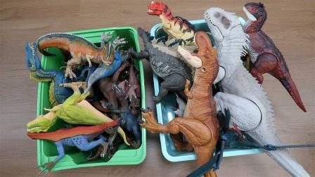 介绍侏罗纪时期似鳄龙霸王龙等恐龙玩具