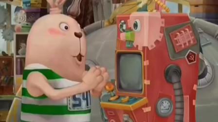配音:机械兔被改造成游戏机,却把兔子们一顿玩,大哥可不同意了