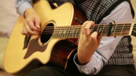 吉他版《昨日重现》配上沙画,弹奏的是人生,太美!