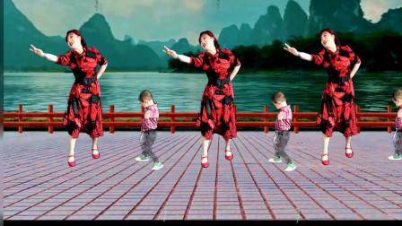 吕芳广场舞《送给妈妈的歌》正面演示