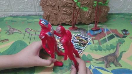 两个奥特曼终于把怪兽都封印了,要回去和爸爸说