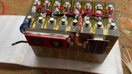 白菜价组装24伏一百安时的锂电池,可以超大电流放电
