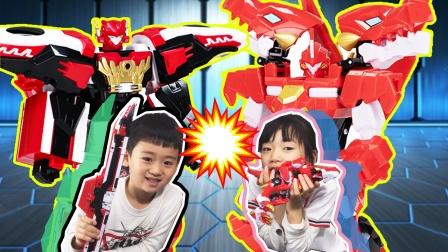 爆龙战车4玩具变形比赛!谁能更快变形成机器战士呢?