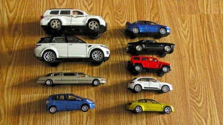 各种尺寸的彩色跑车越野车玩具介绍