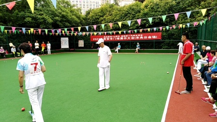 门球比赛【西安市门球展示开幕式】欣赏