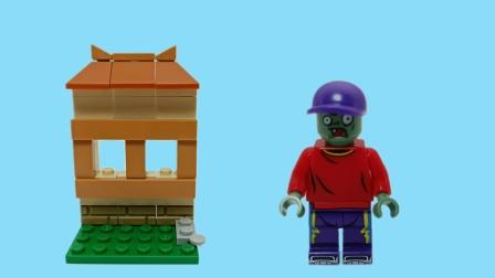 植物大战僵尸玩具 植物门上的鸭舌帽僵尸