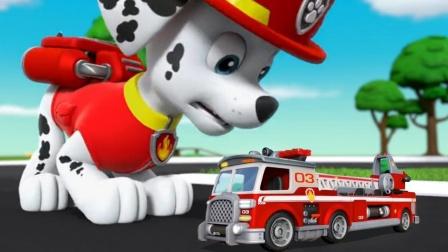 挖掘机汽车玩具故事:太酷了!汪汪队毛毛也出现在车队中!
