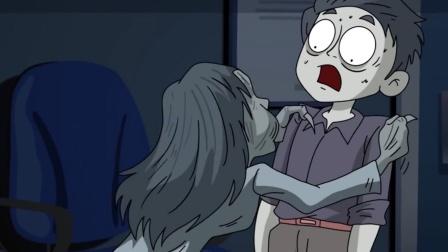 恐怖动画短片:深夜,一个车祸毁容的女鬼找上了我