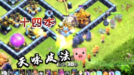 部落冲突:十四本,天咏皮法猪!