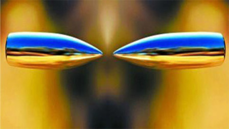 当两枚高速子弹正面相撞,会发生什么?慢镜头记录全程