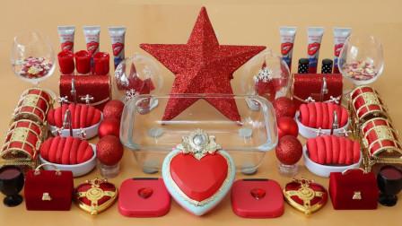 DIY贵气红系列混泥,无硼砂,满屏女王气解压美美哒,喜欢吗?