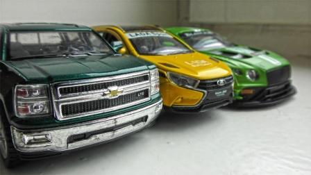 彩色跑车越野车SUV汽车玩具展示内部构造