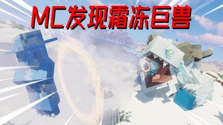 我的世界mod:MC发现霜冻巨兽,手中的宝石可以冻住任何生物!