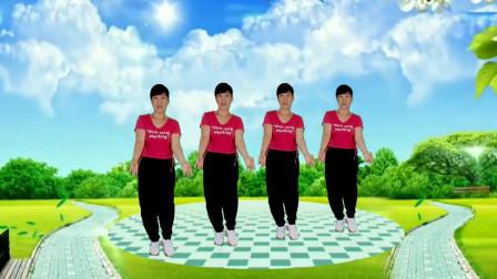 郴州冬菊广场舞【爱你久久】64步弹跳健身舞附背面教学