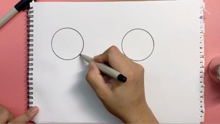 猜猜用2个圆可以画出什么动物?