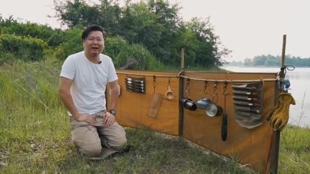 Bushcraft野营利器,集躺椅,挡风墙,防水垫多功能一体