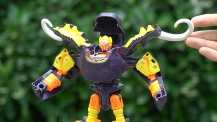 咖宝车神变形玩具:猛犸莫斯变身成猛犸象,机甲变形机器人模型