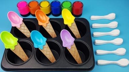 百变创意DIY布丁勺子儿童益智玩具,小朋友学习认识颜色啦!