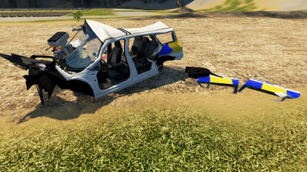 BeamNG:新车被直接暴力拆解,零件扔一地