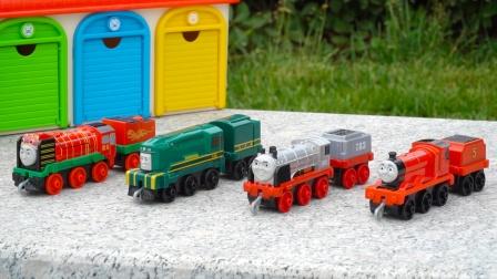 托马斯小火车玩具:各种火车头和车厢连接,儿童益智合金玩具车