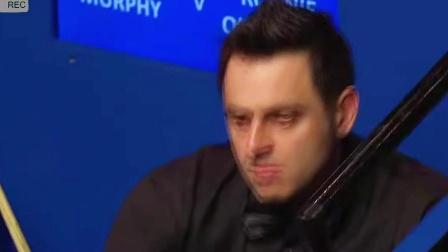 斯诺克世锦赛上的神级进球,墨菲反塞三库勾中袋!