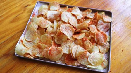 想吃薯片不用出去买了,教你在家用土豆做,方法简单,入口香脆