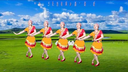 火爆流行藏族广场舞《雪莲花》优美动听,深情走心,简单更好看