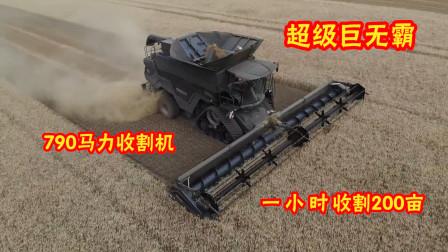 看看德国如何收割小麦的,一小时就是200亩!