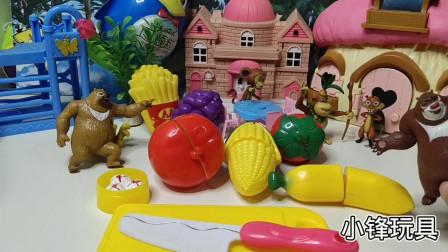 儿童,玩具,萌娃,过家家熊熊切水果玩具视频