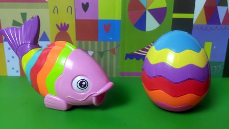 多关节彩蛋和鲤鱼存钱罐,轻松组装,启蒙认知颜色