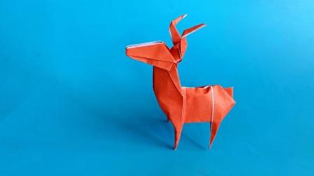 教你折纸小鹿,简单易学,生动形象