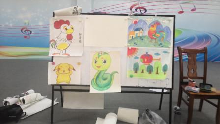 儋州市文化馆公益卡通画班第五次学习剪影