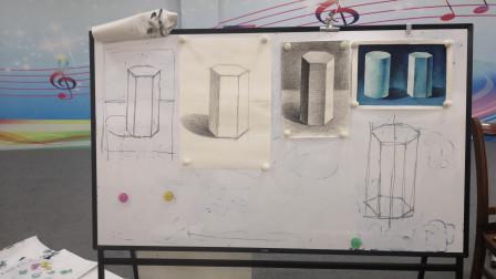儋州市文化馆公益国画班第四次素描课学习剪影