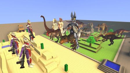GMOD游戏怪兽把奥特曼的恐龙骑走了
