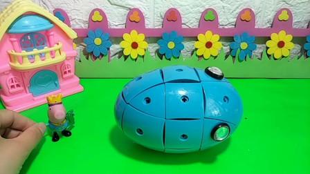 拼磁力球了,磁力球中间有个带磁力的圆球