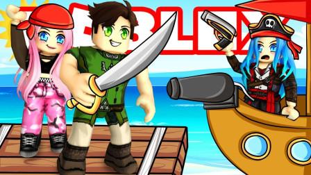 ROBLOX海盗船大战:四国大战消灭敌军海盗船!咯咯多解说