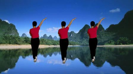 郴州冬菊广场舞【流泪的飞蛾】32步漂亮水兵舞背面演示附正面分解