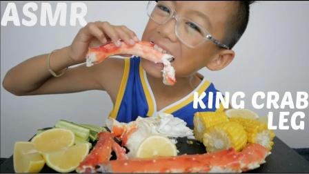 吃货:蟹腿、柠檬、黄瓜,味道不错
