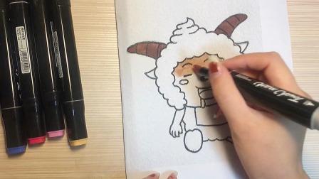 今天我们来画爱睡懒觉的懒羊羊~