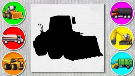 工程车汽车玩具游戏,教你认识各式各样的工程车类型,有挖掘机