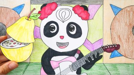 给动物合唱团熊猫美美制作冰糖雪梨